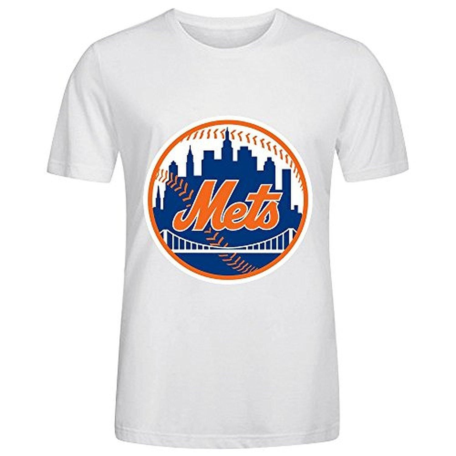 ec657a9c MLB New York Mets Team Logo Crew Neck T Shirts For Men White - Brought to  you by Avarsha.com