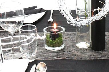 Impressionen der Tischdeko Schwarz