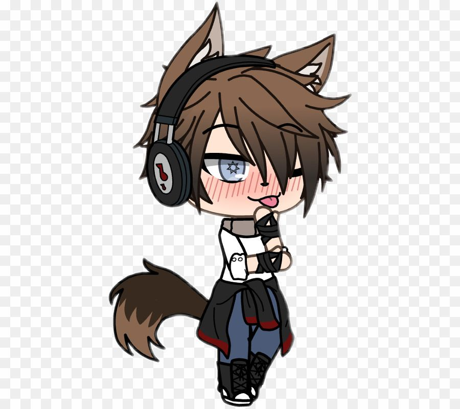 Gacha Life Boys Wolf Png Wolf Clipart Cute Anime Character Cute Anime Chibi Cute Boy Outfits