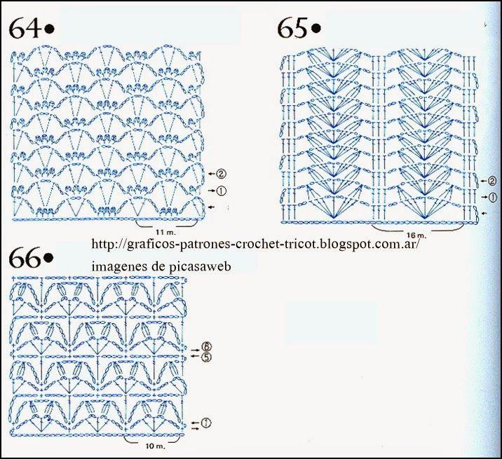 PATRONES=GANCHILLO = CROCHET = GRAFICOS =TRICOT = DOS AGUJAS: agujas crochet