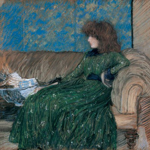 Philip Wilson Steer, The Sprigged Frock, 1890