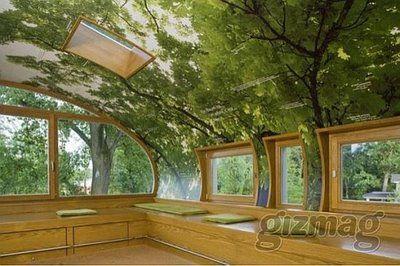 Another interior of a Baunhaum treehouse http://www.baumraum.de/