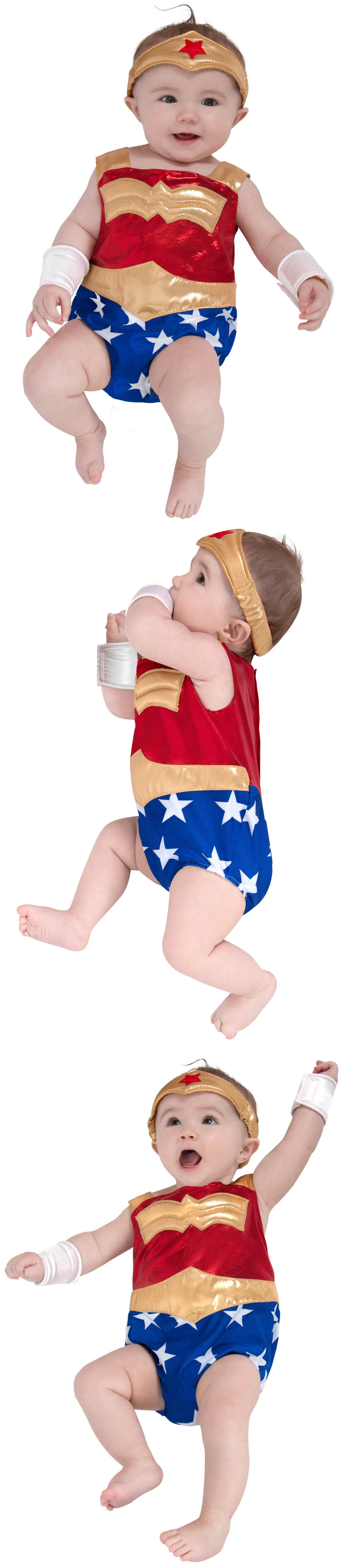 halloween costumes kids: 5135 newborn wonder woman costume dc comics