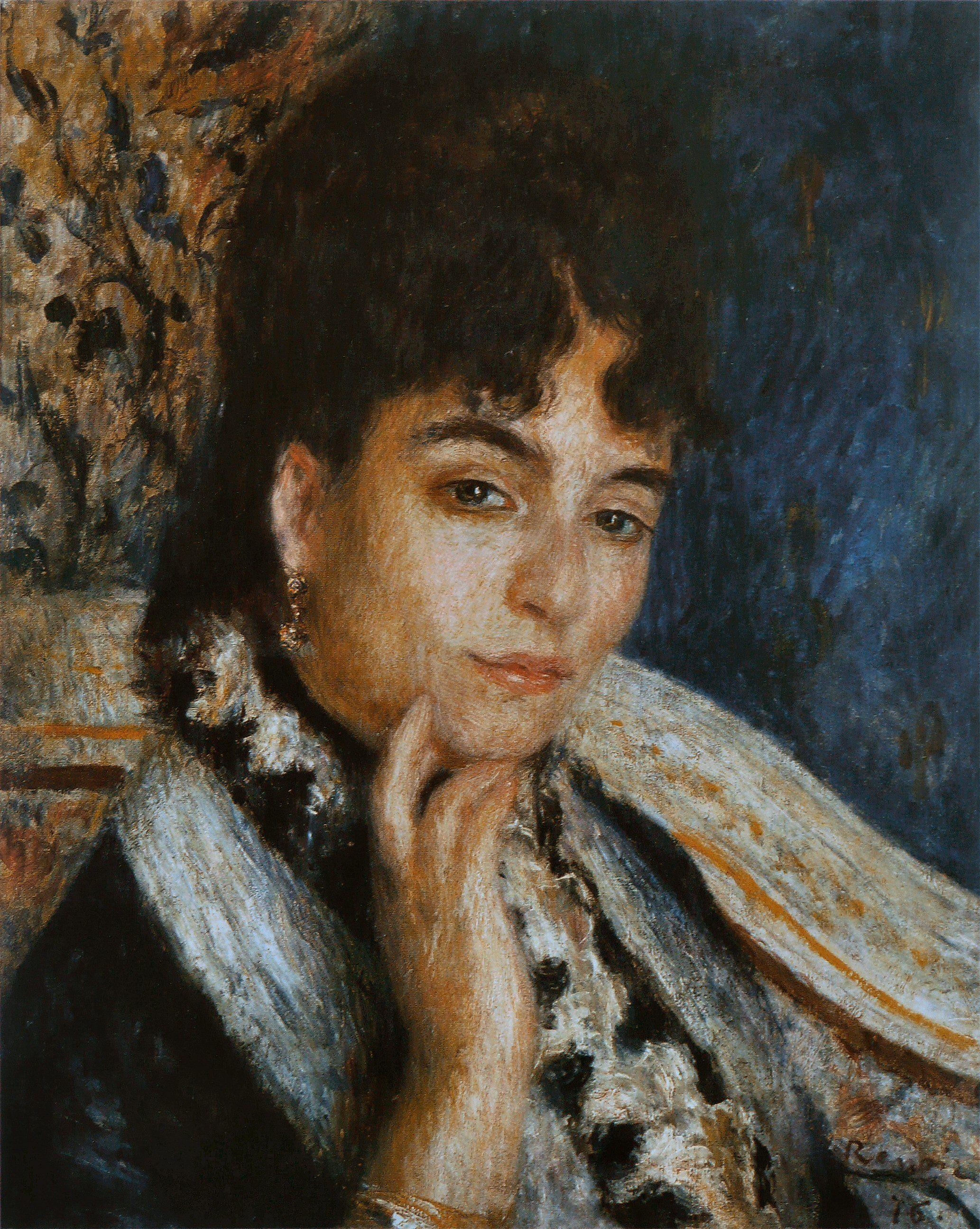 • Pierre-Auguste Renoir - Madame Alphonse Daudet (1876). Musée d'Orsay, Paris