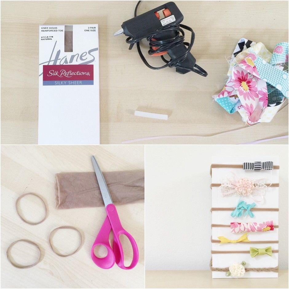 headband tutorial using stockings … | Pinterest