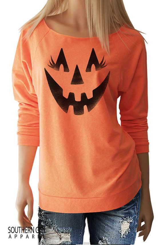 Halloween Shirts. Jack o Lantern. Pumpkin Face. Halloween Sweatshirt. Halloween. Halloween T-Shirt. Halloween Shirts for Women.