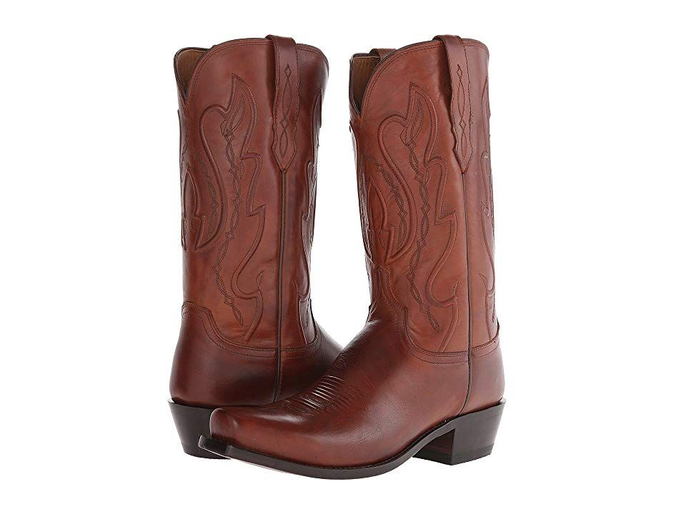 Lucchese Cole Tan Cowboy Boots Click The Lucchese Cole boot will match your true Western style From the 1883 Collection Mens western boot with a square toe design Tan Ran...