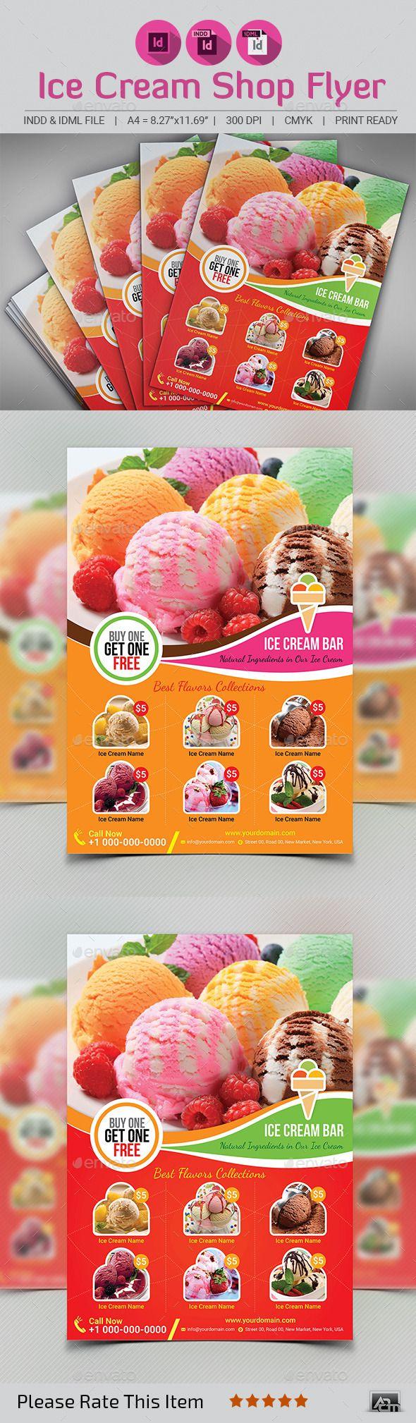 ice cream shop flyer template shops flyer template and restaurant ice cream shop flyer template restaurant flyers
