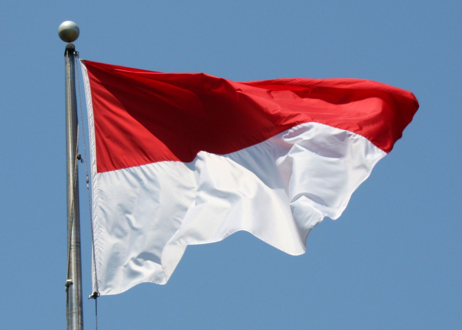 The Bendera Pusaka Sang Saka Merah Putih English The Sacred Red And White Heirloom Flag Was The First Indonesian Flag Sewn By Sukar Bendera Indonesia Merah