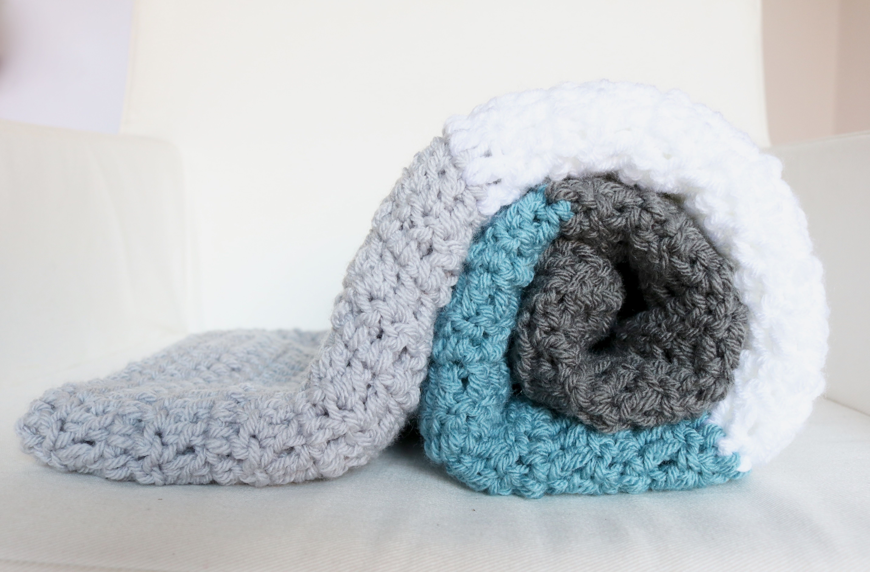 Crochet Block Stripe Blanket | Bella Coco | Knits | Pinterest