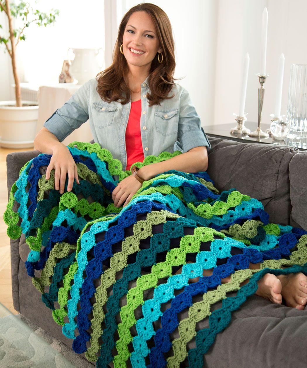 Yo yo throw free crochet pattern from red heart yarns new new yo yo throw free crochet pattern from red heart yarns bankloansurffo Choice Image