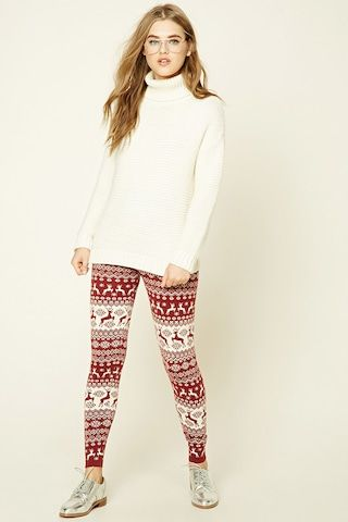 Fair Isle Reindeer Leggings from F21. | Christmas. | Pinterest
