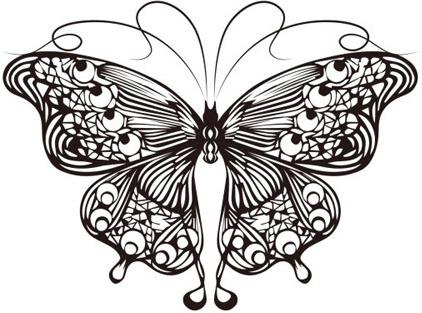 Vector tattoo butterflies free vector download (2,703 Free