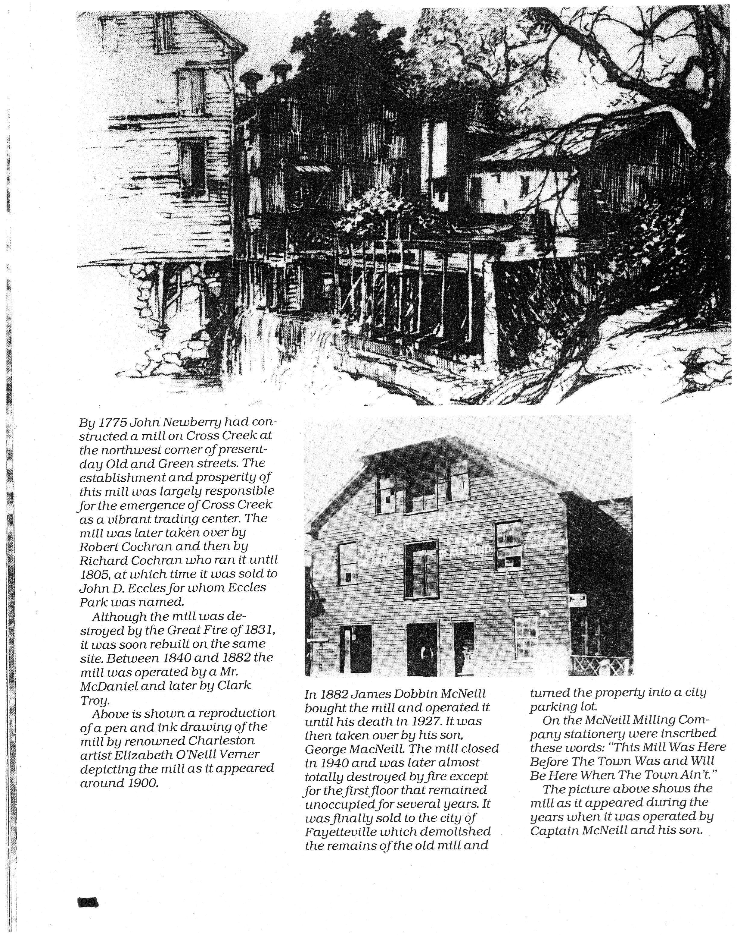 Newberry Mill Was Built In 1775 But Was Destroyed In The Great  # Muebles En Fayetteville Nc