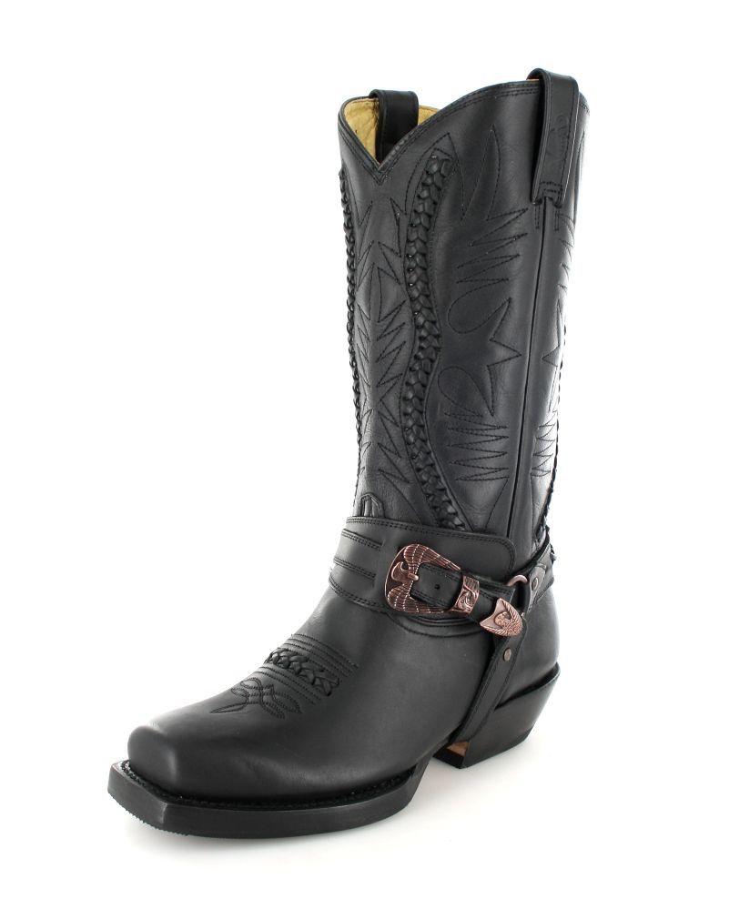 2f8d36ba4fb Rancho Boots 9064 Black Bikerstiefel - schwarz | Men's Shoes | Boots ...