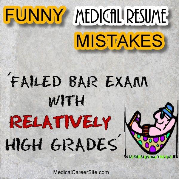 "Failed bar exam with relatively high grades."" #Funny #Resume ..."