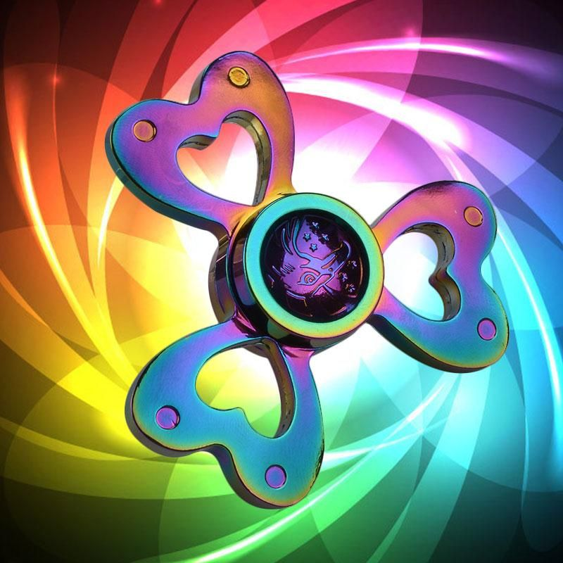 Hand Fid Spinner Heart Shaped Metal Tri Spinner Fid Spinner