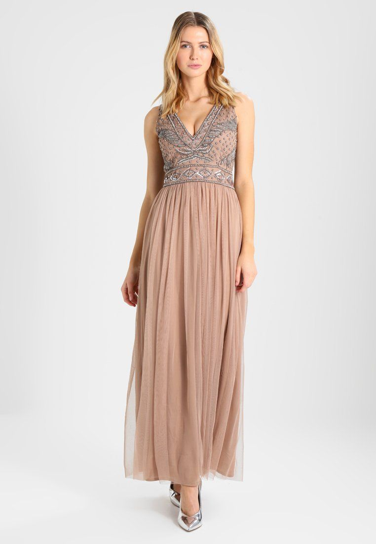 AMORA MAXI - Cocktailkleid/festliches Kleid - taupe | Taupe, Lace ...