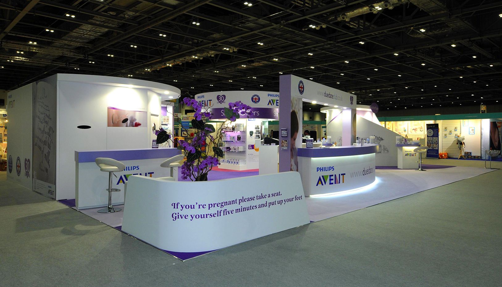 Exhibition Stand London : Avent philips exhibition stand at the baby show excel