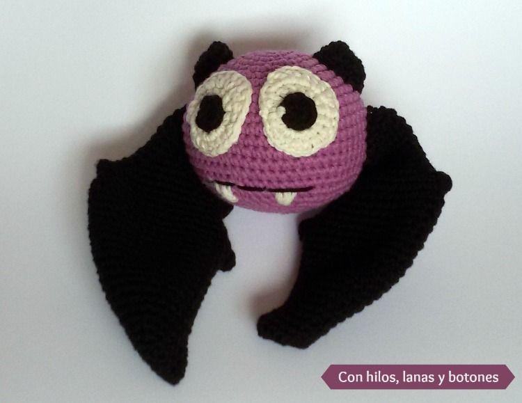 Con hilos, lanas y botones: murciélago amigurumi (patrón gratis en ...