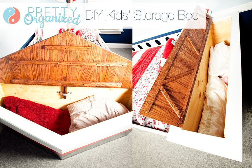 kids room ideas diy boat bed for toddlers with hidden storage so cute