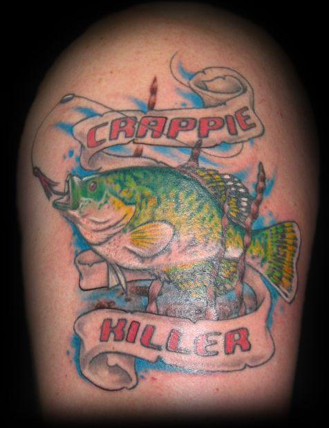 Crappie Fish Tattoo Bass Fishing Tattoo Fish Artwork Crappie