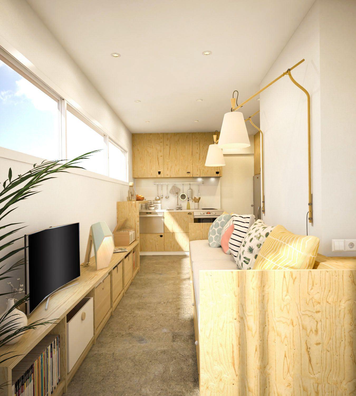 Reforma de un mini piso en barcelona espaciominimo - Reforma pisos barcelona ...