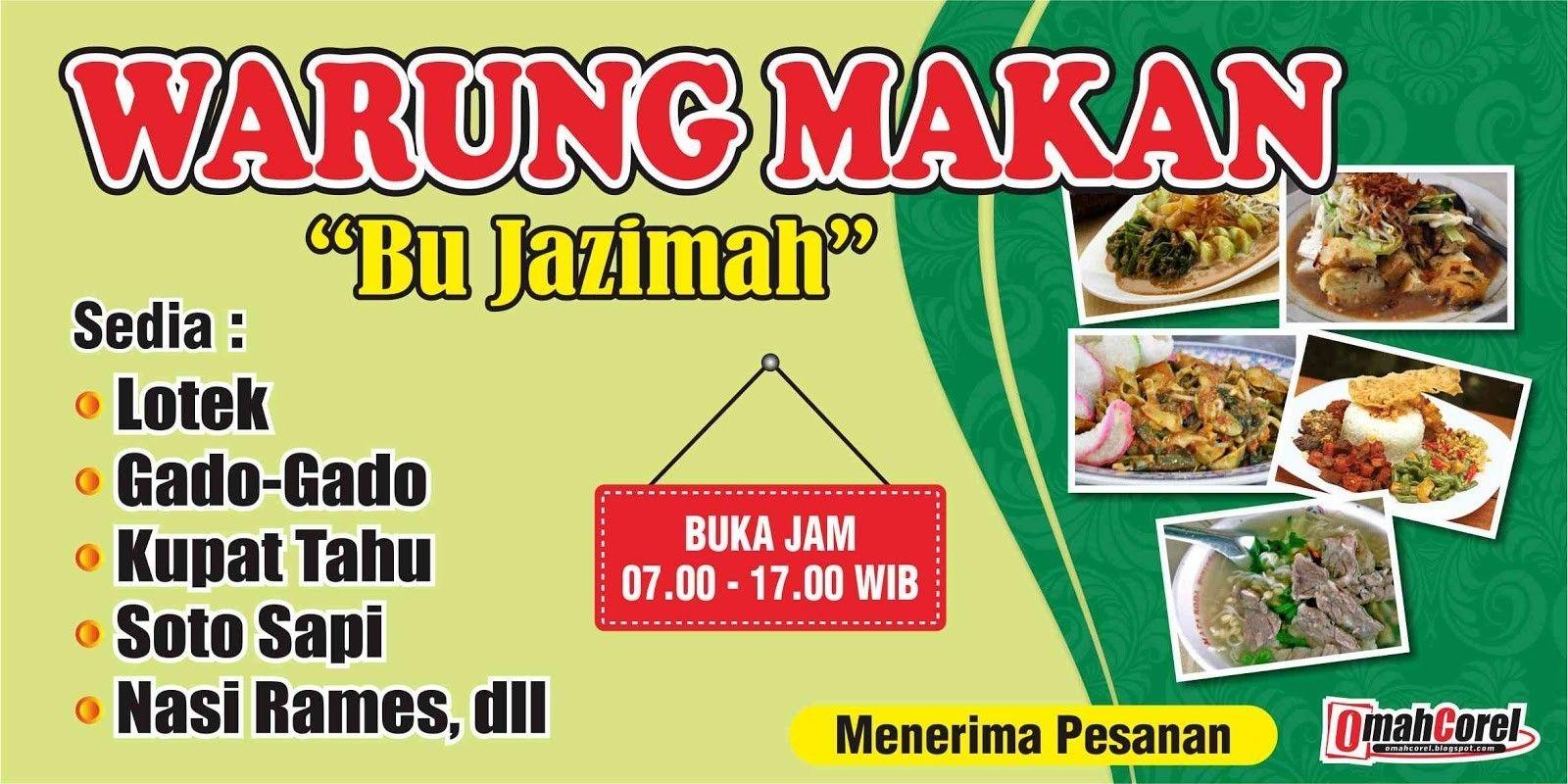 spanduk warung sate cdr Spanduk, Makanan, Desain banner