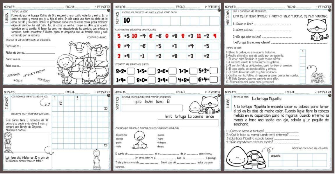 Cuaderno de repaso para Primaria Primer Ciclo - Imagenes Educativas