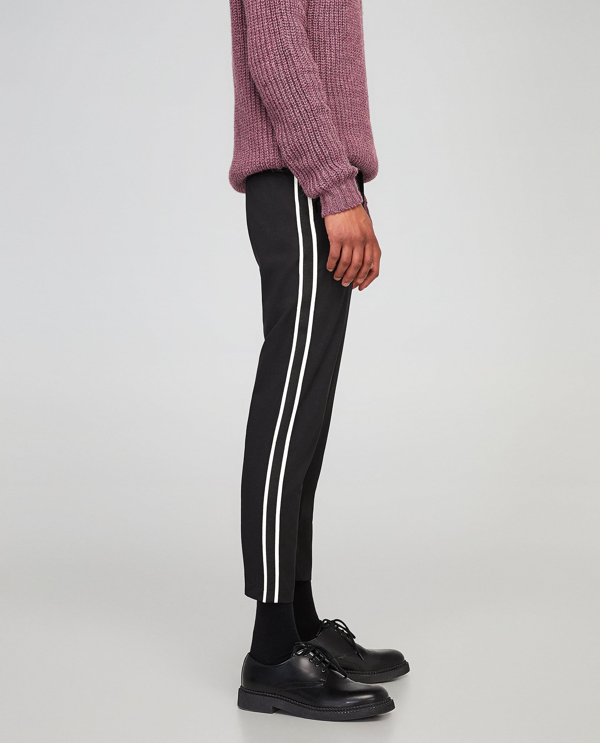 0e2e780e Image 4 of CROPPED TROUSERS WITH SIDE STRIPES from Zara | W18 bottom ...
