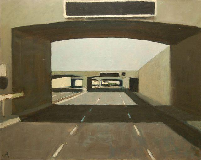 Roger Kuntz Double Underpass, 1961 Oil on canvas 42 x 52