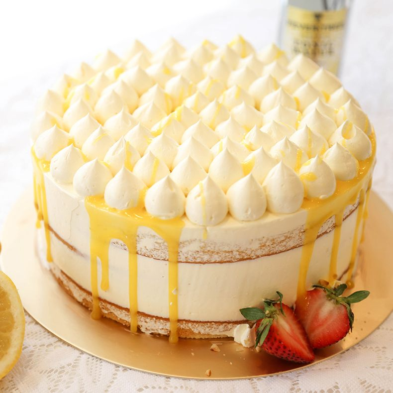 ZESTYLemon infused sponge layers, frosted with lemon