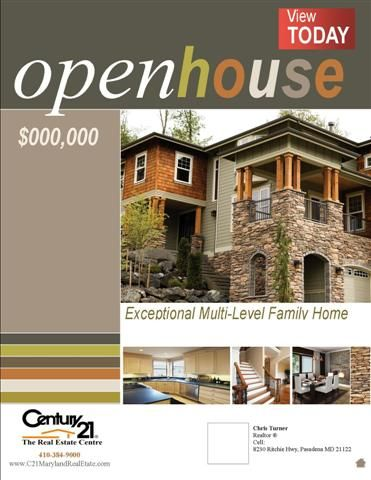 open house flyers real estates centre staging forward open house flyer