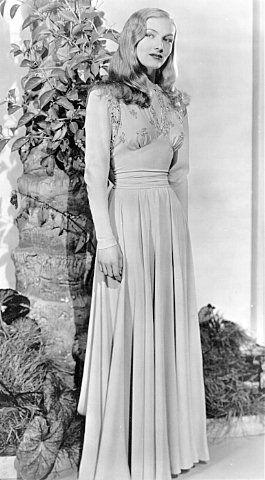 Evening dress 1940s style