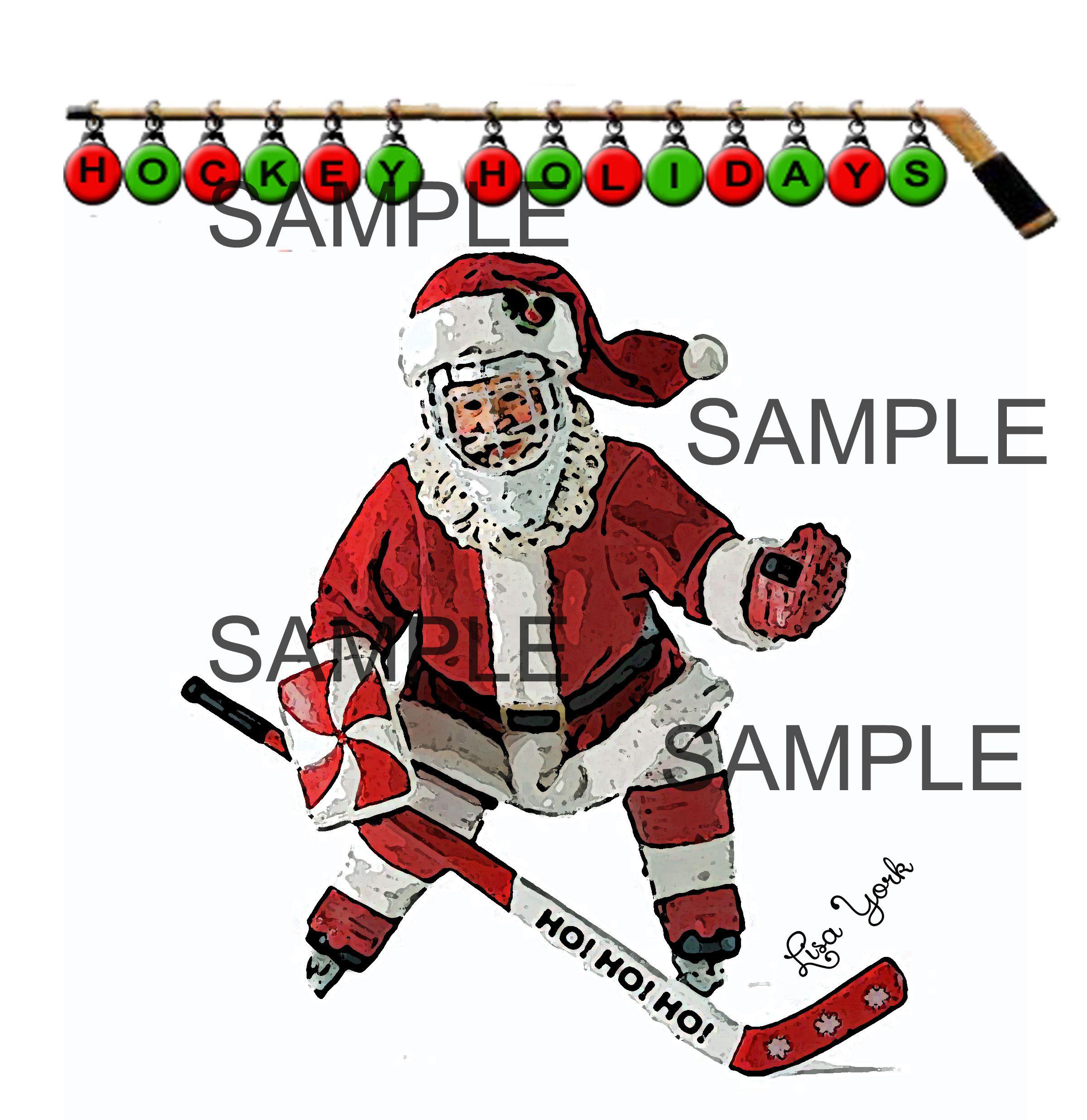 Pin by Lisa York on Hockey Christmas Cards   Pinterest