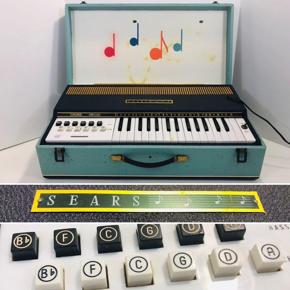 Sears Portable Air Chord Organ 603 Electric Vintage 1960s Works Vinyl Sales Vintage Sears
