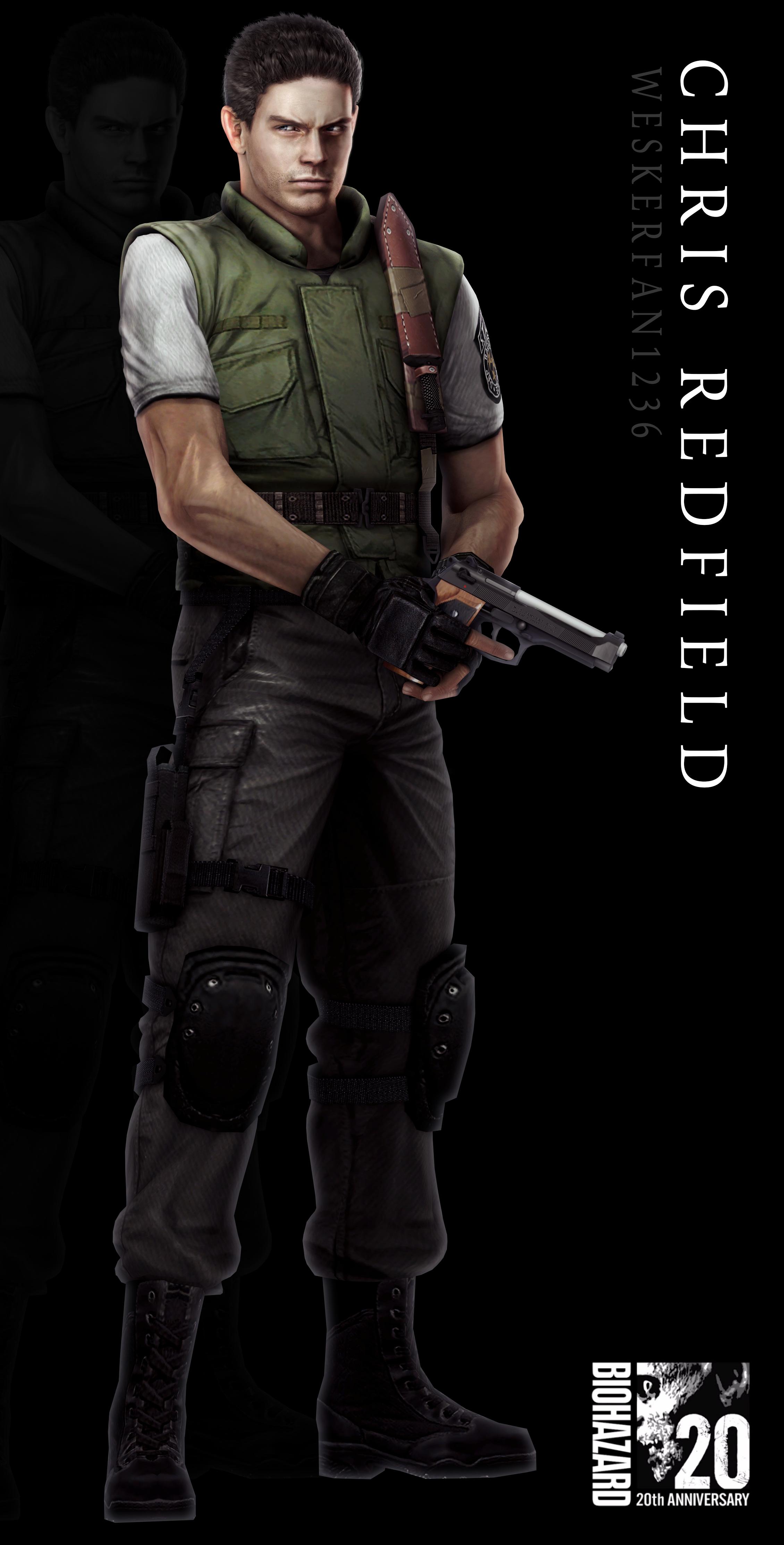 Resident Evil 20th Anniversary Chris Redfield Resident Evil Resident Evil Game Resident