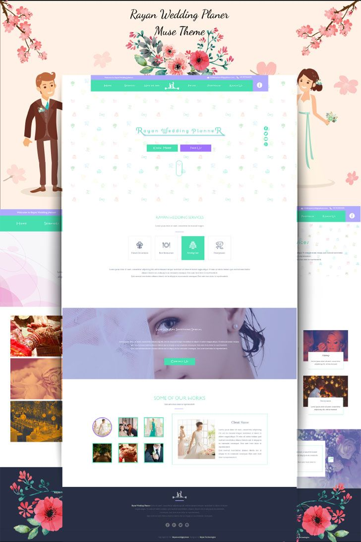 Rayan wedding planner Muse Template | Pinterest | Wedding planners ...