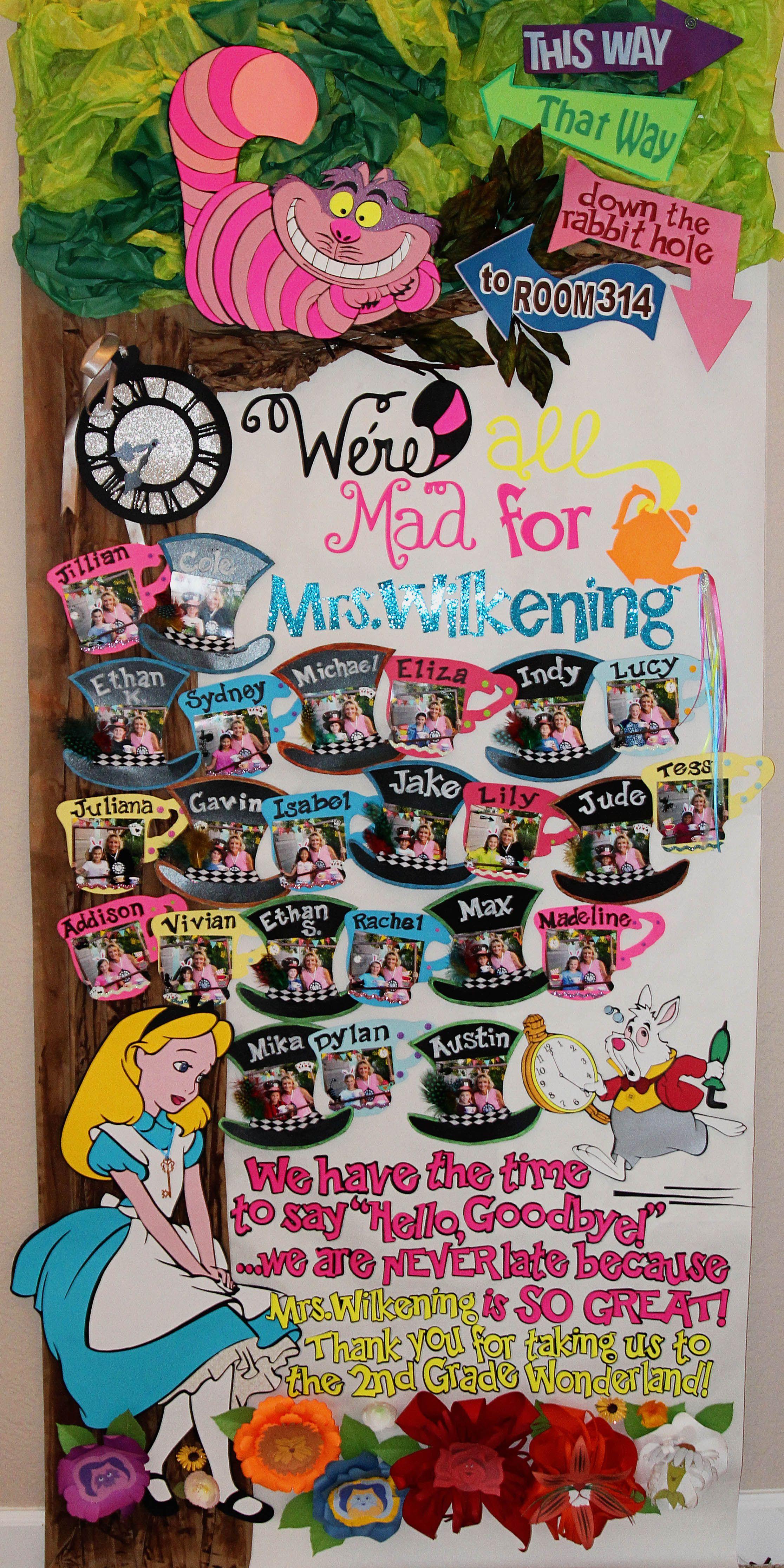 Alice in Wonderland Themed Door for Teacher Appreciation ...