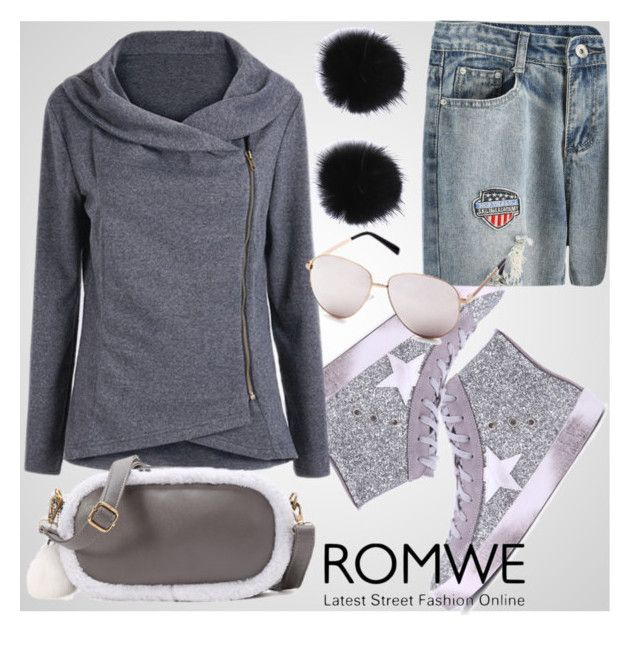 """& ROMWE & 10/X"" by nura-akane ❤ liked on Polyvore"