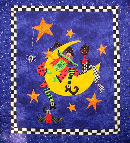 This was a quilt made for a Quilt Country Shop sample. A fun, easy to make quilt for Halloween.