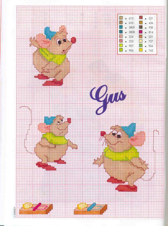 Disney Cinderella Gus Gus cross stitch
