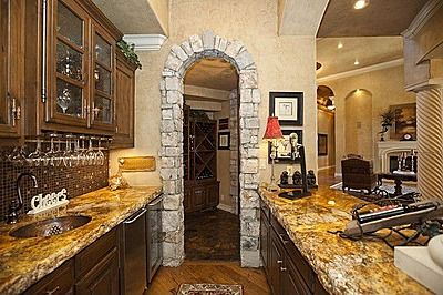 Rockwork Around Arched Walkthrough Home New Homes Dream House