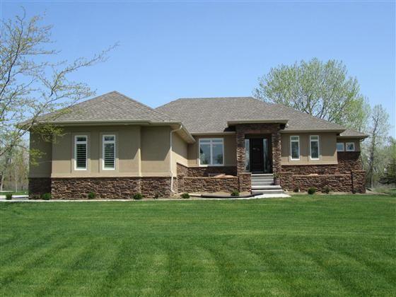 Stucco Exterior Ranch custom built stucco and stone exterior ranchwegher. this home