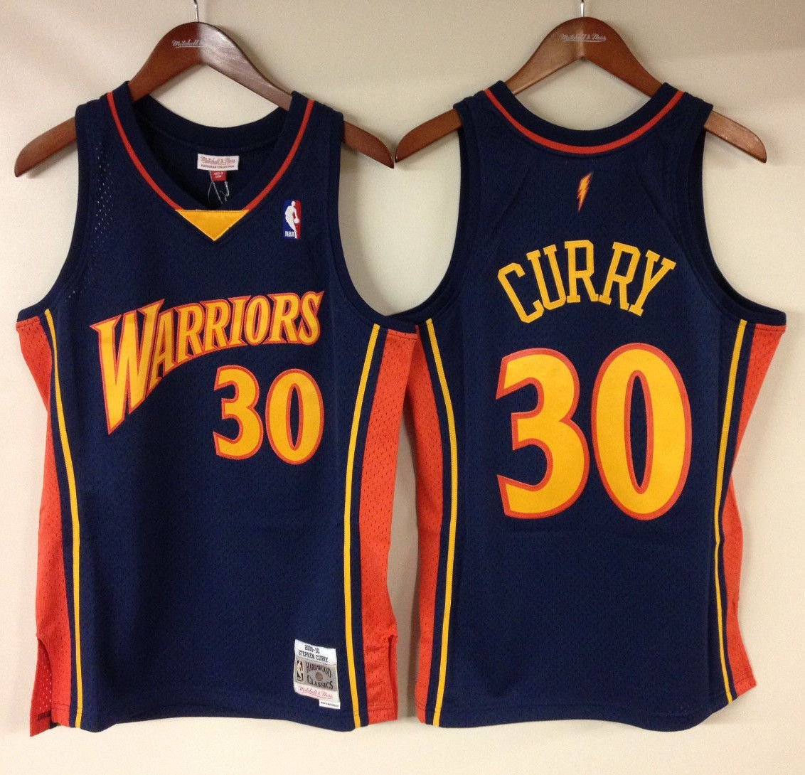 pretty nice 6298c f1162 Stephen Curry Golden State Warriors Mitchell & Ness NBA ...