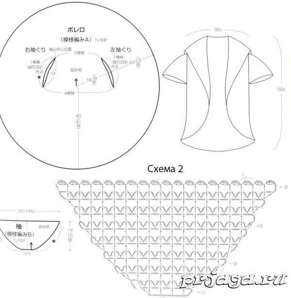 Medidas y puntadas | chal de crochet | Pinterest | Patrón para tejer ...