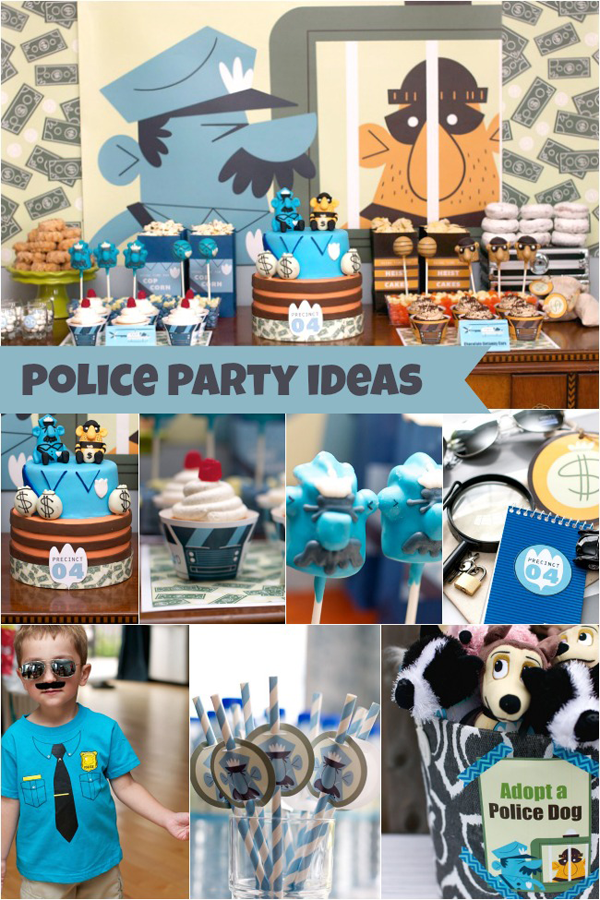 Cupcake With Character: The Heist: Police Birthday Party