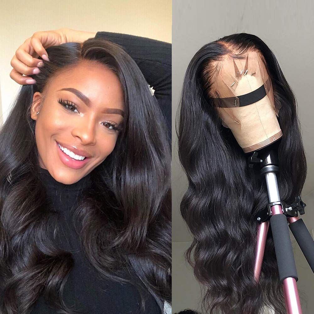 Body Wave Front Lace Wigs Human Hair Black Women  Pre Plucked With Baby Hair 100% Virgin Human Hair
