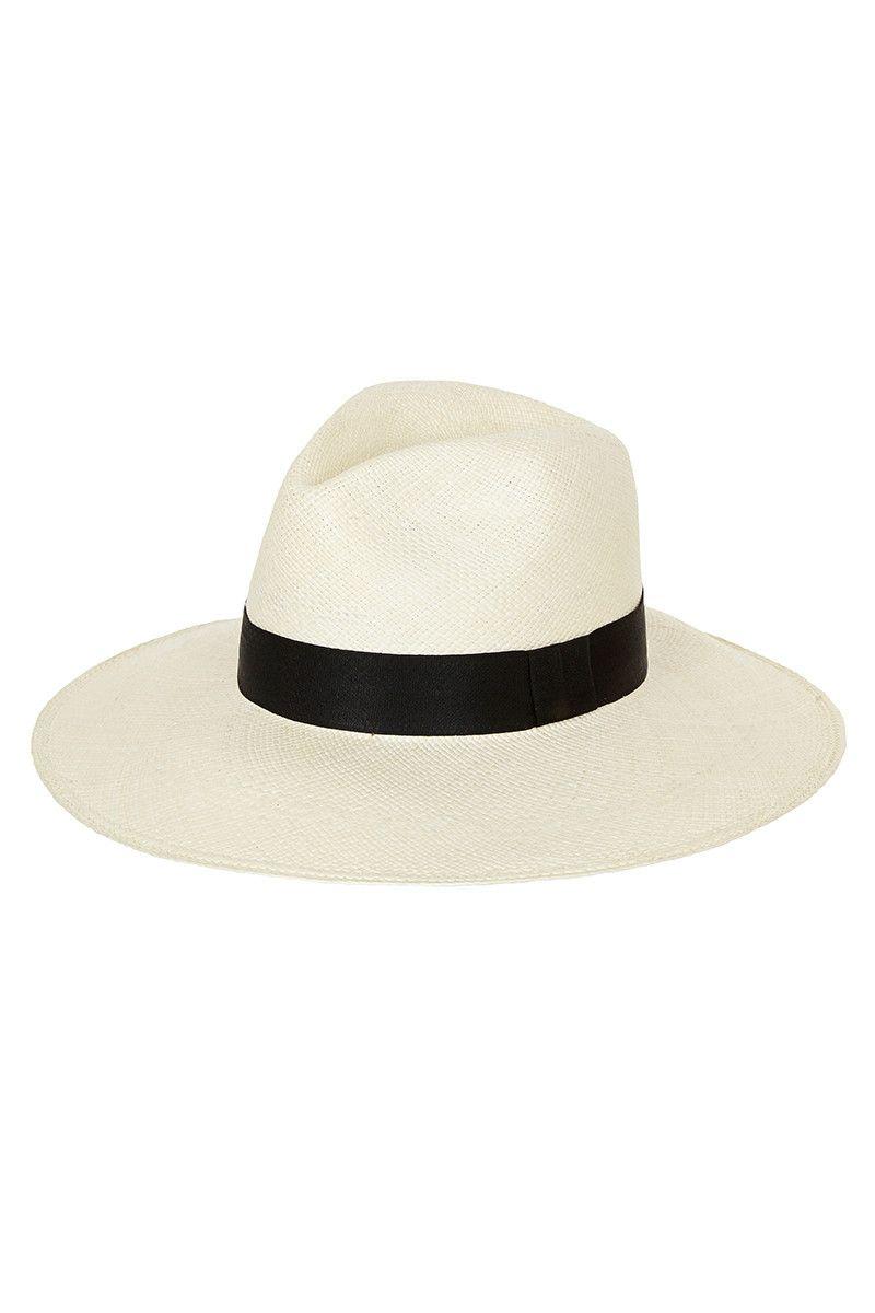 Panama Hat - Classic White   My Red Lippy