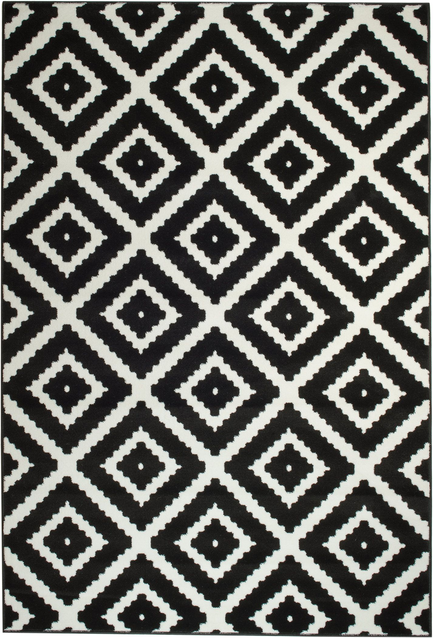 Leana Black Indoor Area Rug Joss Main Black White Rug White Rug Bedroom White Rug Nursery
